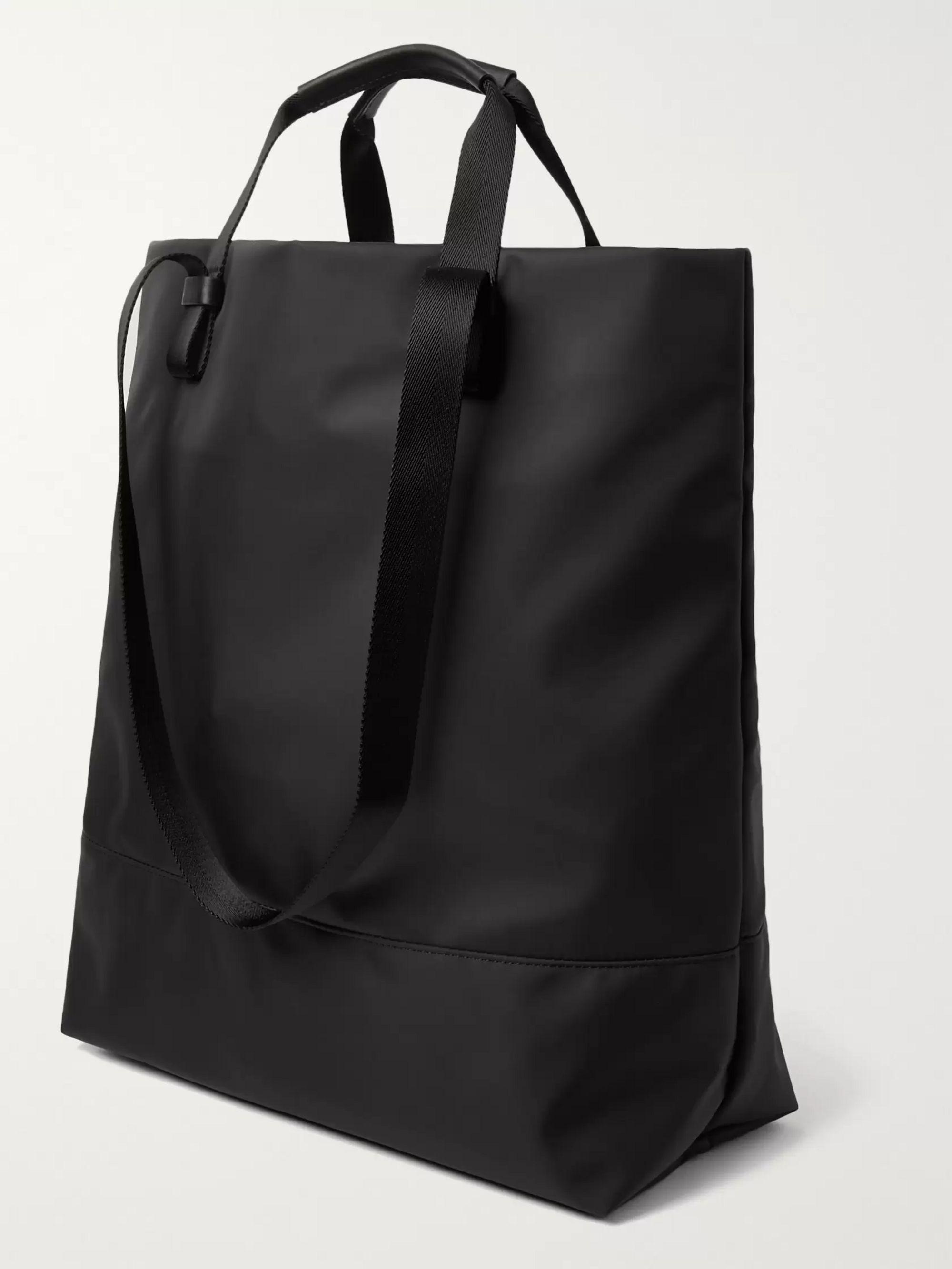 Black Dayton Leather-trimmed Nylon Tote Bag | Want Les Essentiels