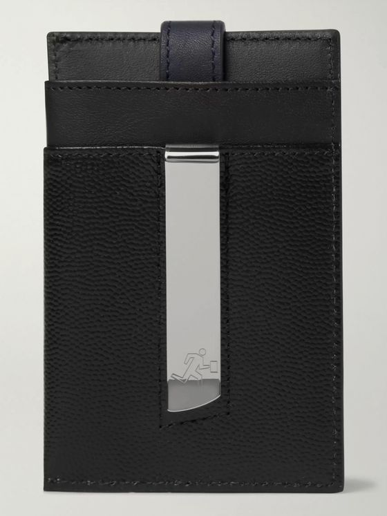 WANT LES ESSENTIELS Pebble-Grain Leather Cardholder with Money Clip