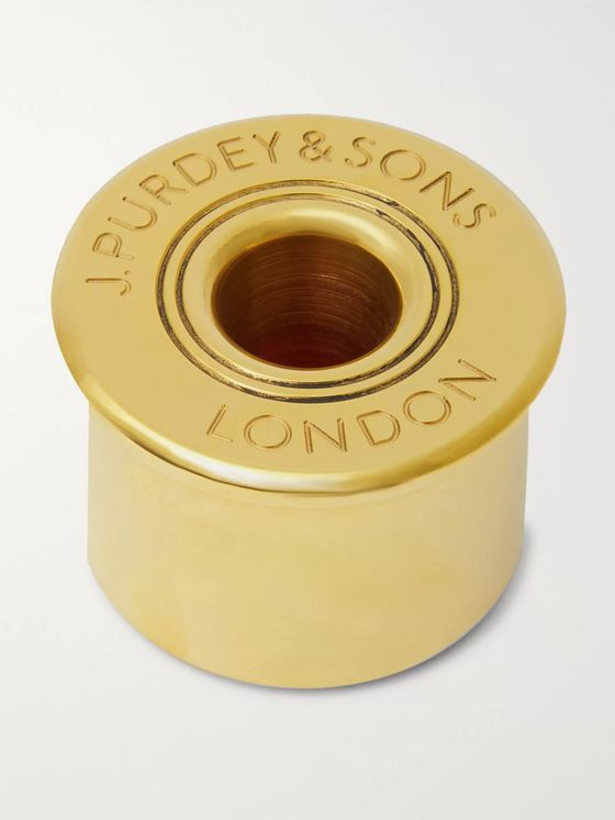 PURDEY Logo-Engraved Brass Paper Weight