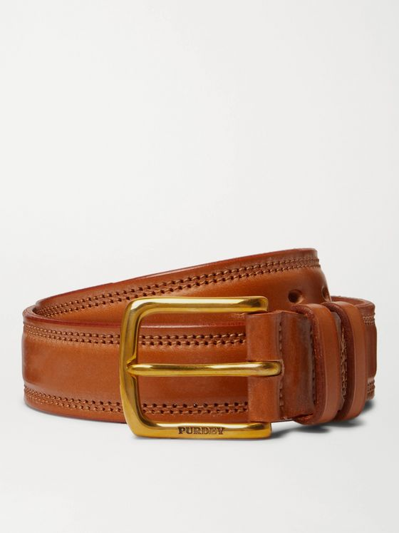 Purdey 4cm Leather Belt