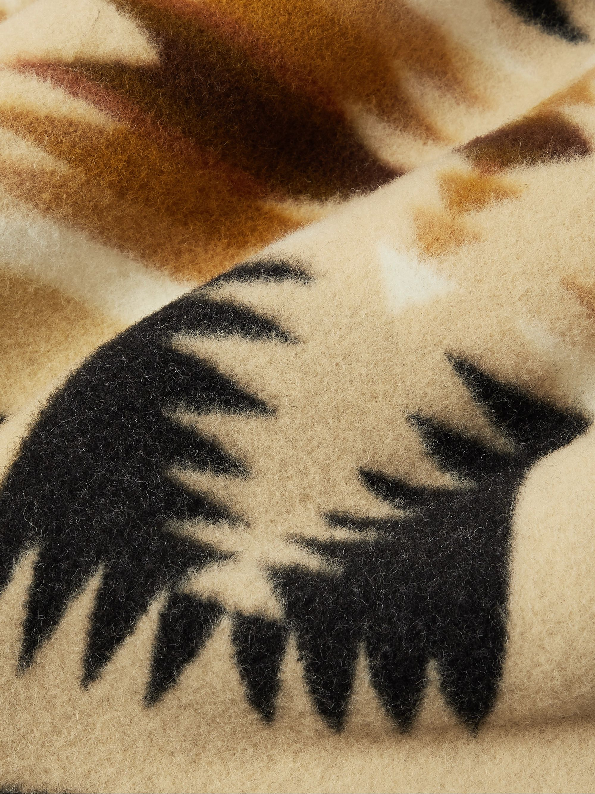 Pendleton Harding Virgin Wool and Cotton-Blend Jacquard Blanket