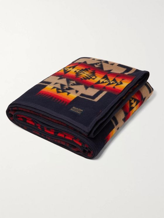 Pendleton Chief Joseph Virgin Wool and Cotton-Blend Jacquard Blanket