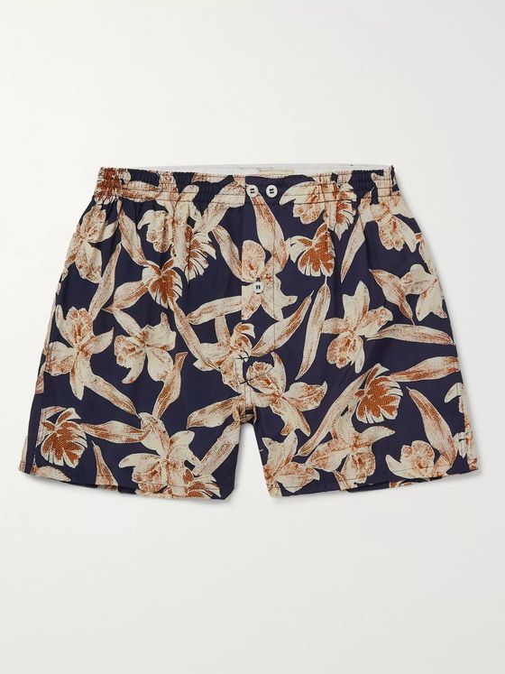Anonymous Ism Printed Voile Boxer Shorts