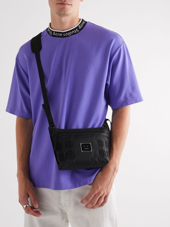 Acne Studios Logo-Appliquéd Ripstop Messenger Bag