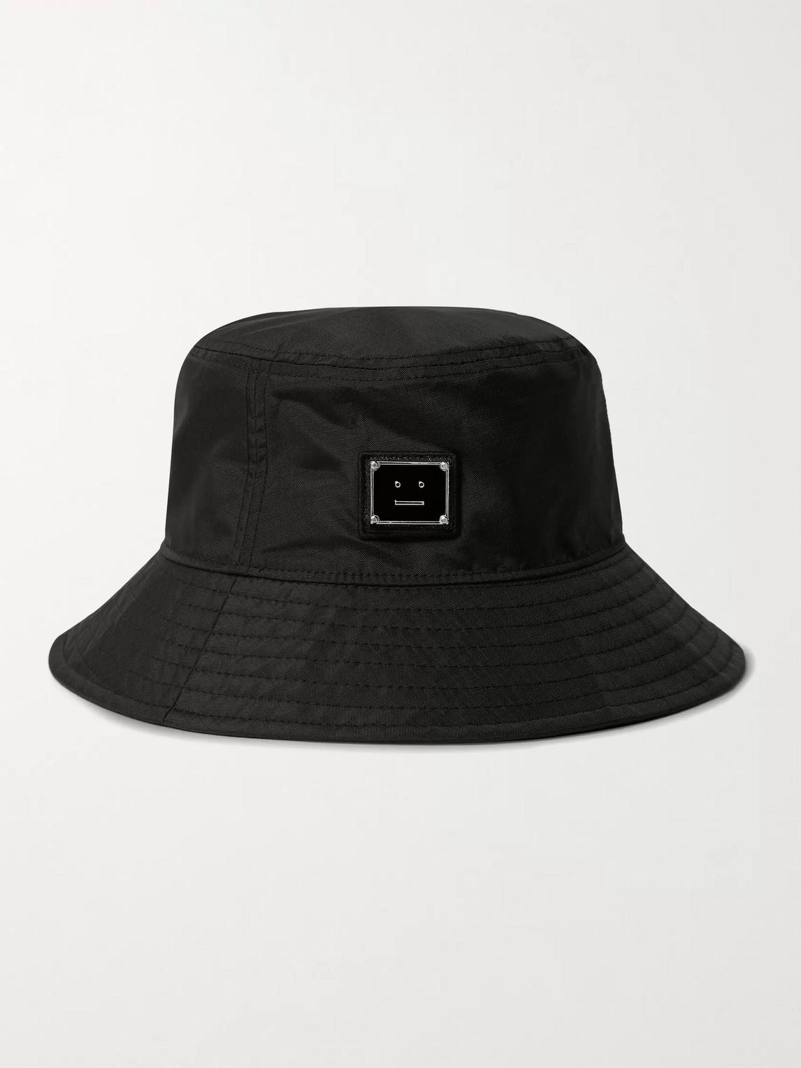 Acne Studios LOGO-APPLIQUÉD RIPSTOP BUCKET HAT