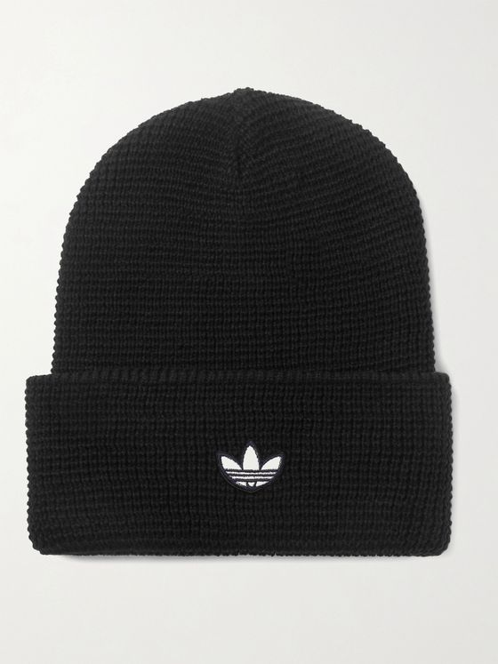 ADIDAS ORIGINALS Logo-Appliquéd Knitted Beanie