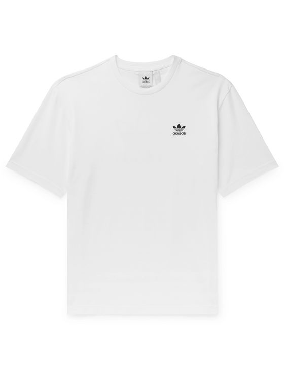 ADIDAS ORIGINALS Logo-Embroidered Printed Cotton-Jersey T-Shirt