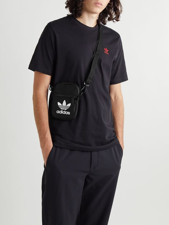 ADIDAS ORIGINALS Logo-Print Canvas Pouch
