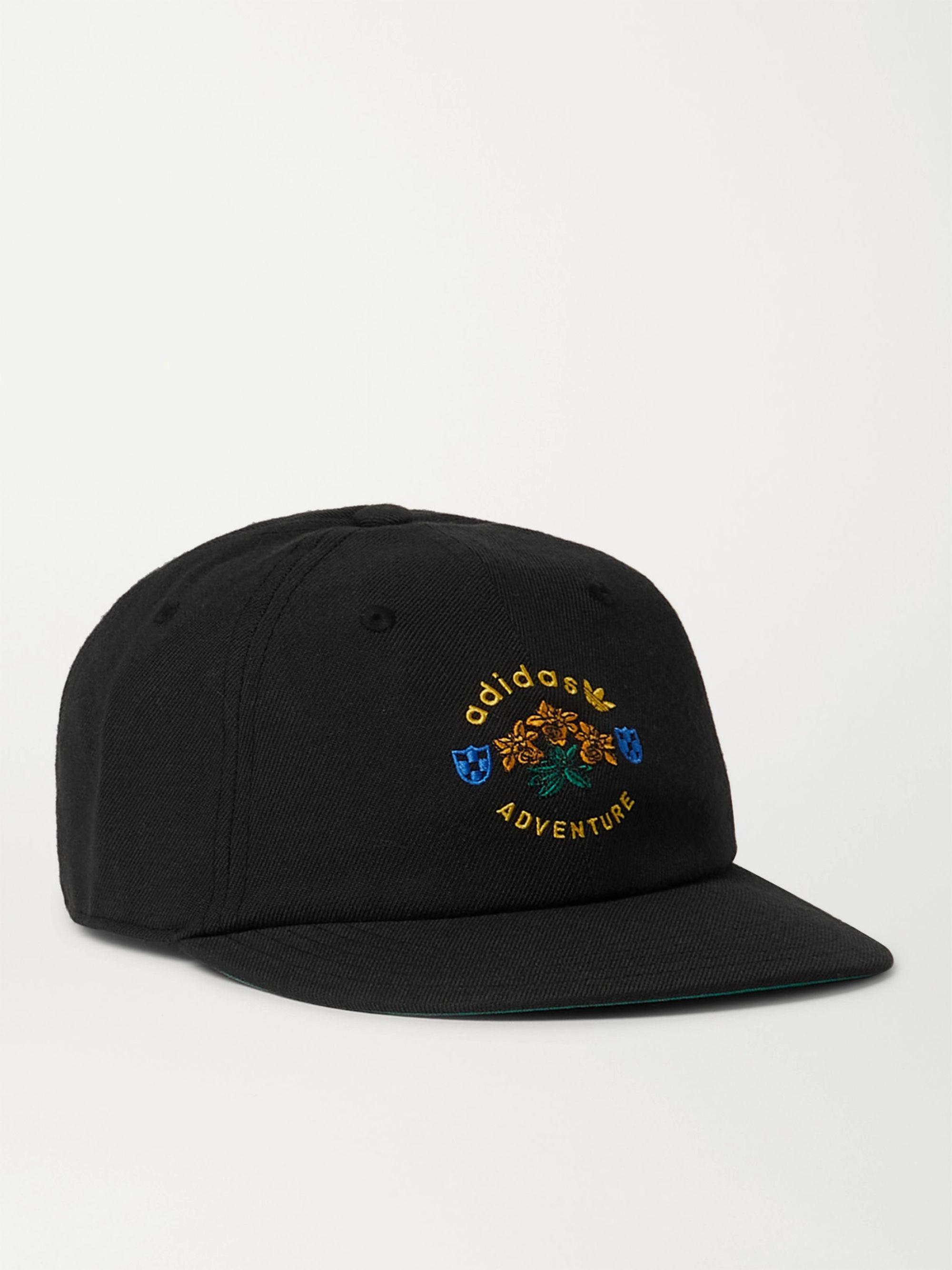 아디다스 볼캡 모자 Adidas Adventure Vintage Logo-Embroidered Twill Baseball Cap,Black