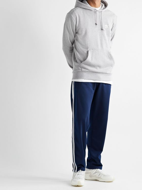 ADIDAS ORIGINALS Firebird Slim-Fit Logo-Embroidered Striped Satin-Jersey Track Pants