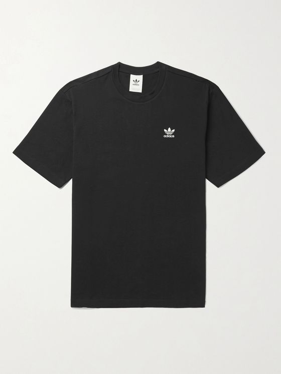 ADIDAS ORIGINALS B+ F Logo-Embroidered Cotton-Jersey T-Shirt