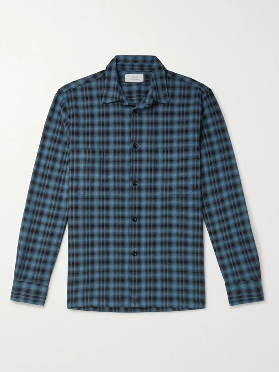 Mr P. Oversized Checked Flannel Overshirt