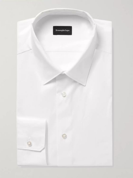ERMENEGILDO ZEGNA Slim-Fit Cotton-Jacquard Shirt