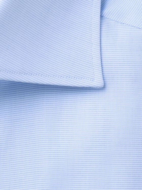 ERMENEGILDO ZEGNA Cutaway Collar Cotton-Oxford Shirt