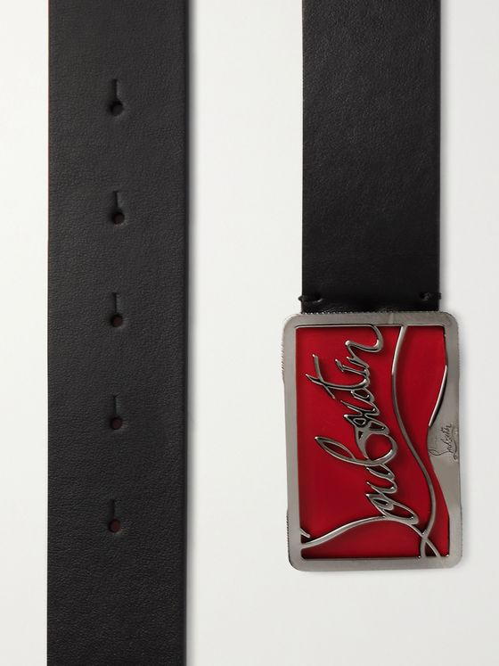 CHRISTIAN LOUBOUTIN 3.5cm Leather Belt