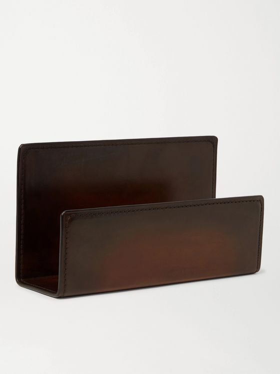 BERLUTI + Carl Auböck Leather Letter Holder