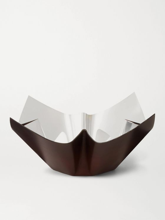 BERLUTI + San Lorenzo Cartoccio Leather and Silver Bowl