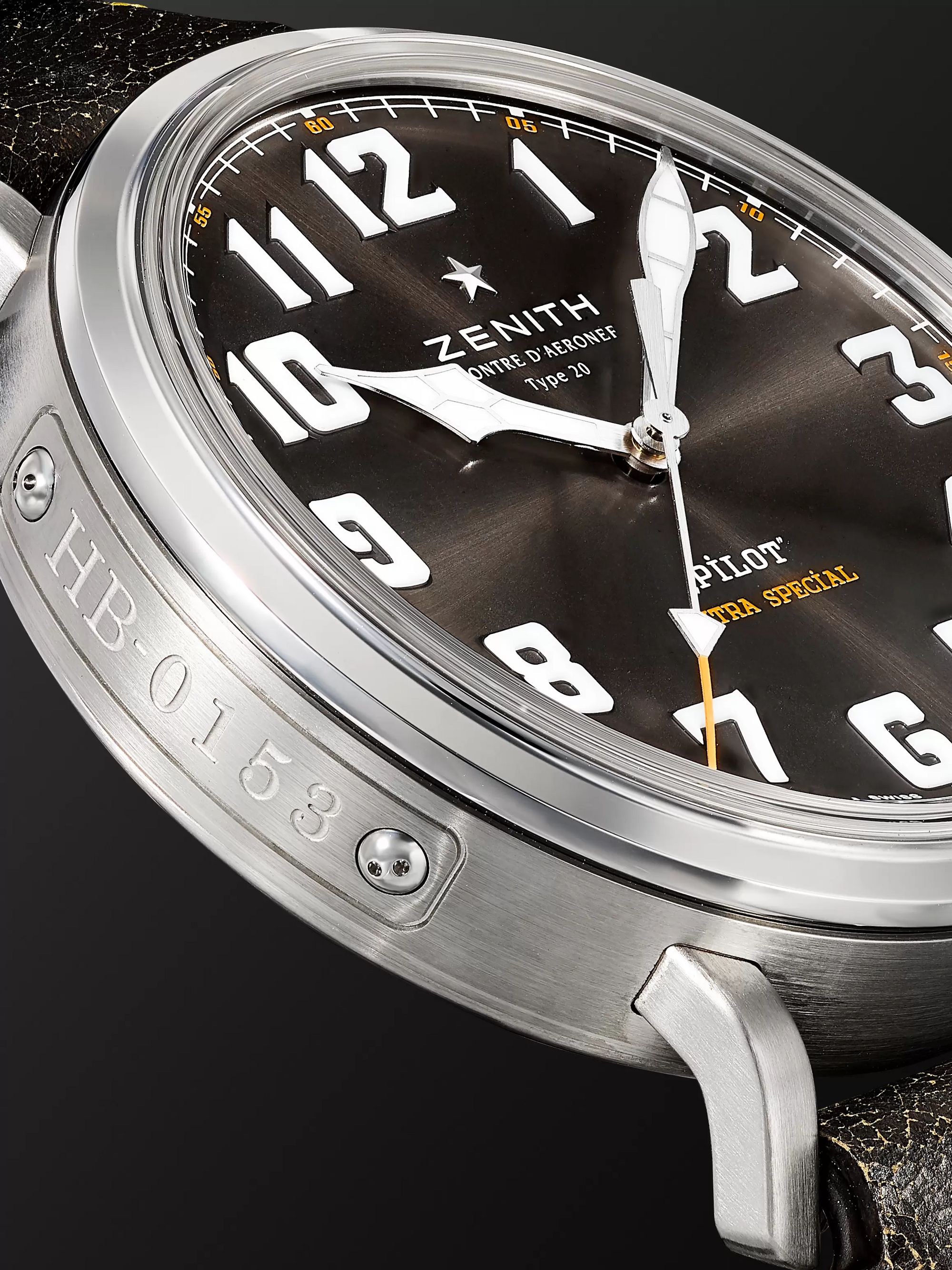 ZENITH Pilot Type 20 Rescue Automatic 45mm Stainless Steel and Leather Watch, Ref. No. 03.2434.679/20.1010