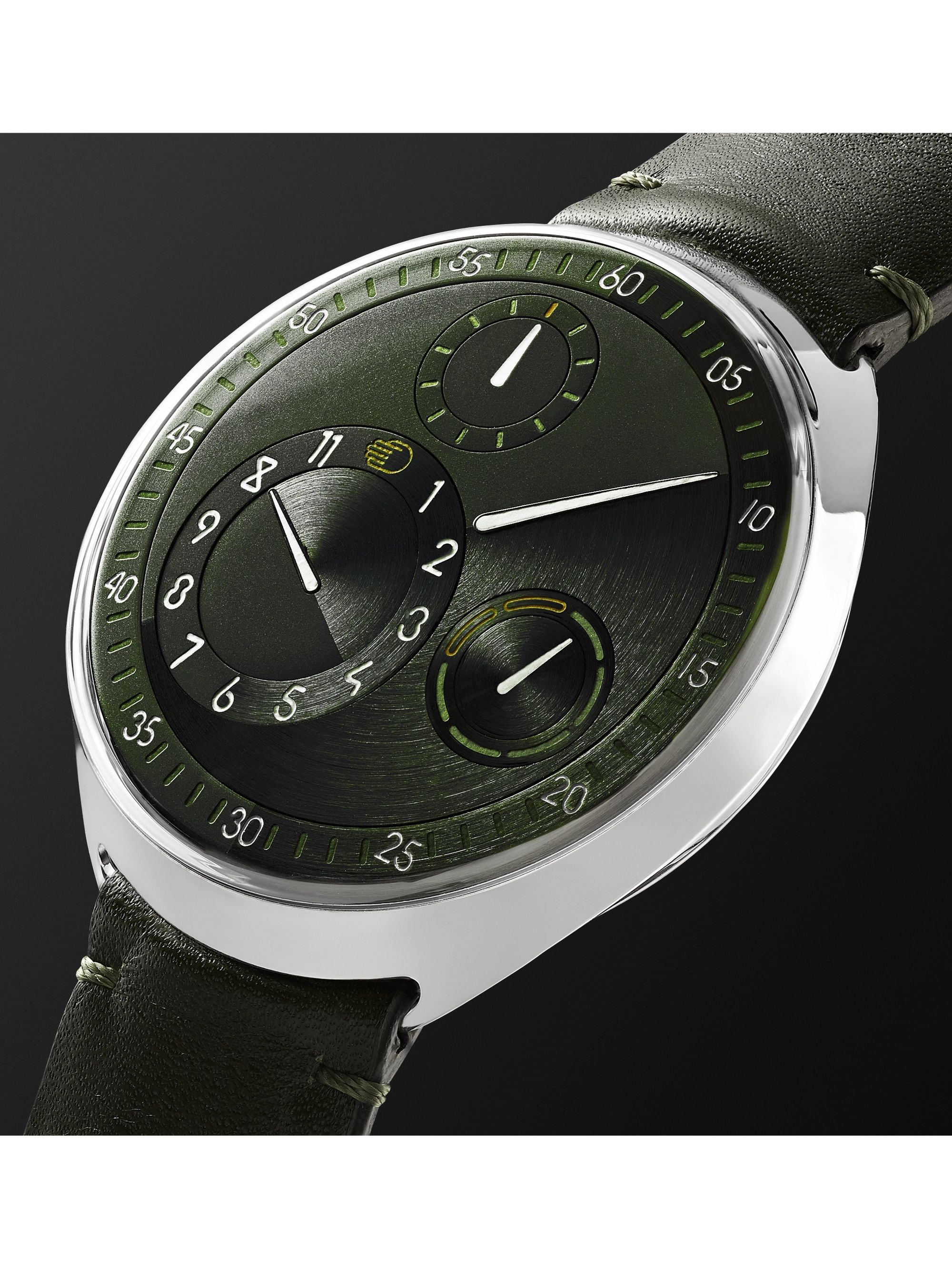 Ressence Type 1 Slim X Limited Edition Automatic 41.5mm Grade 5 Titanium and Leather Watch