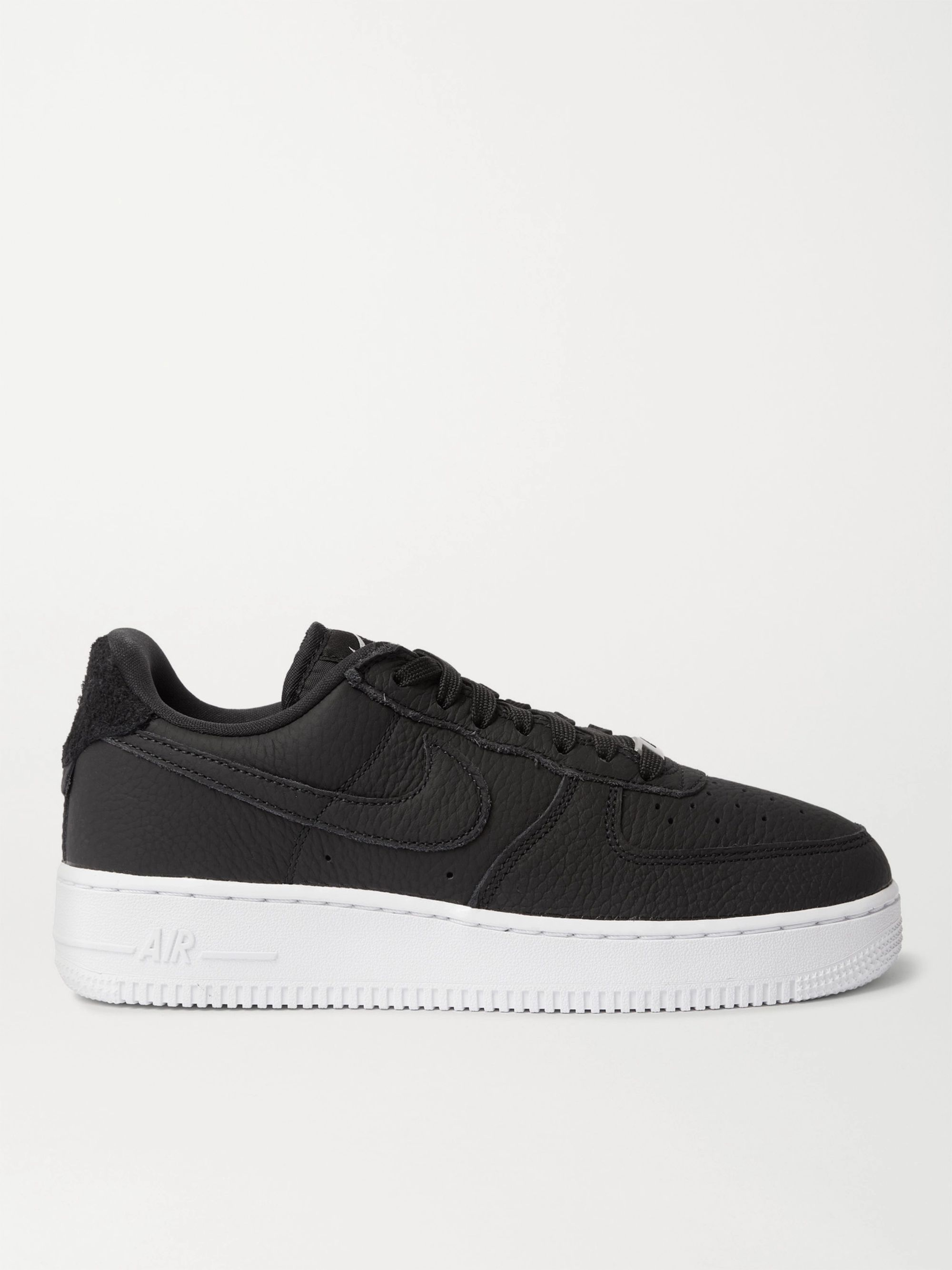 Air Force 1 07 Suede-Trimmed Leather Sneakers