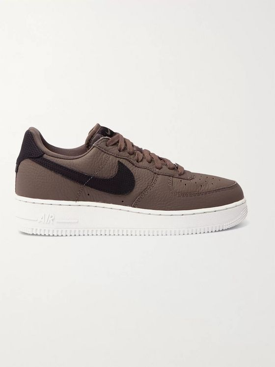 NIKE Air Force 1 '07 Craft Full-Grain Leather Sneakers