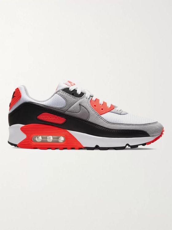 NIKE Air Max III Rubber-Trimmed Mesh, Suede and Leather Sneakers