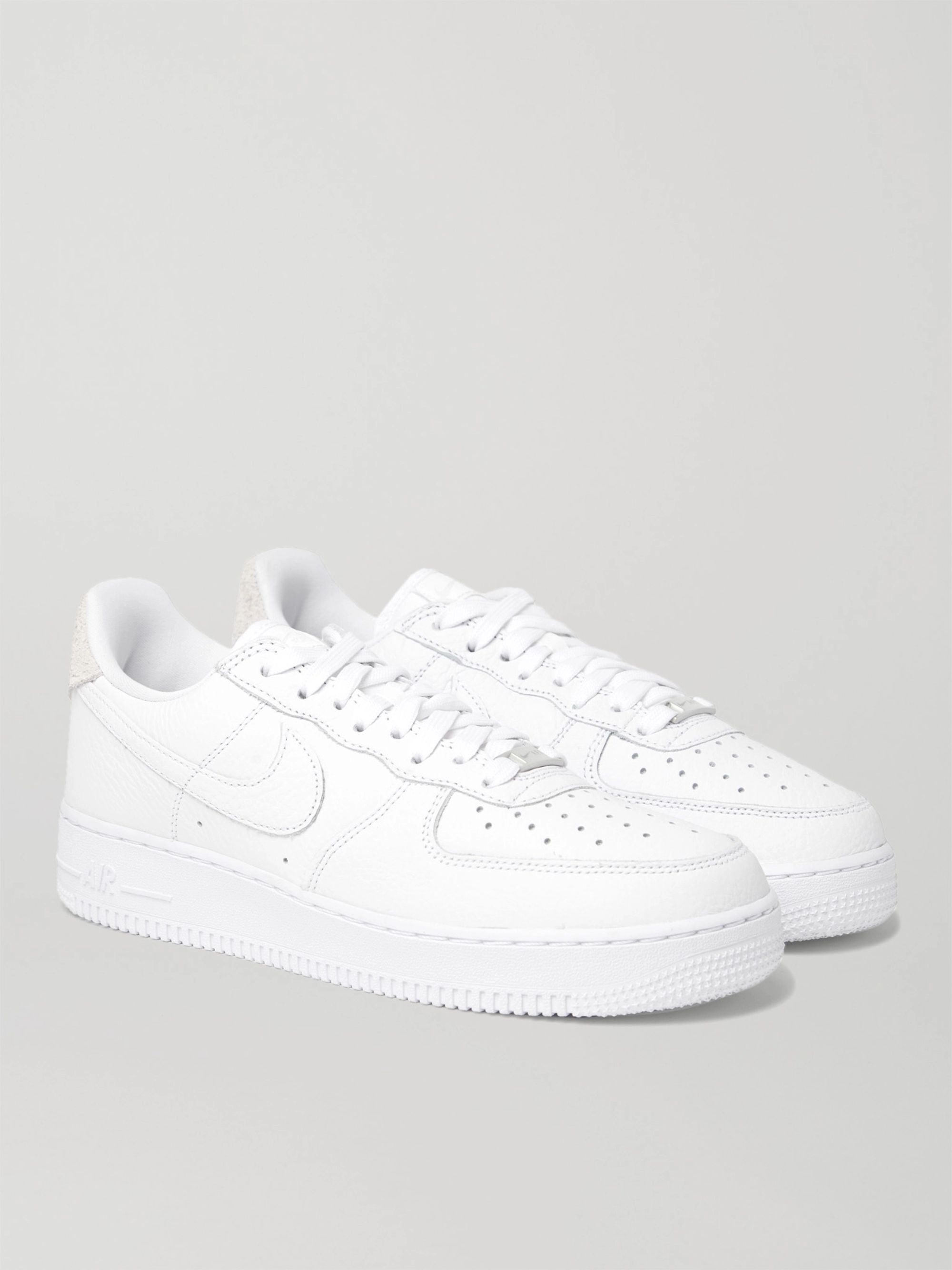 air force 1 07 leather w blanc
