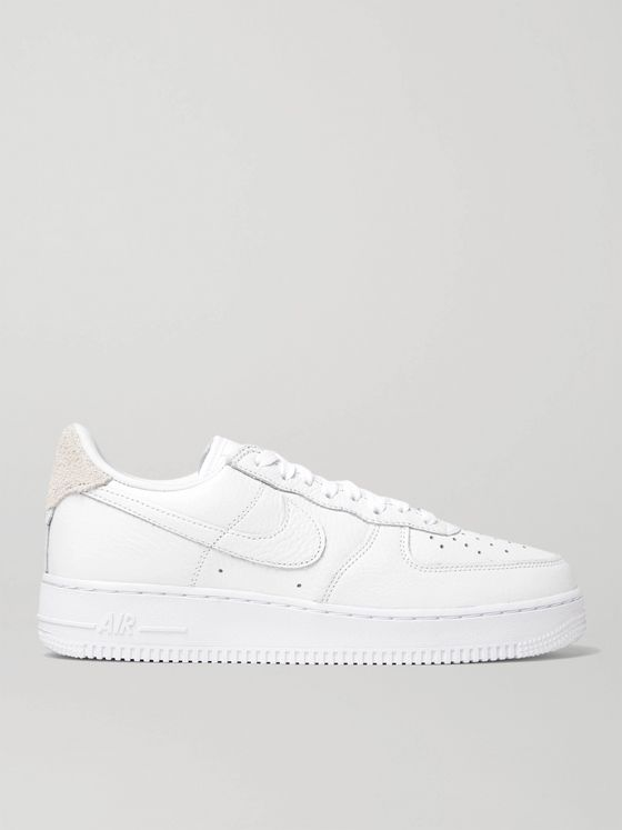 NIKE Air Force 1 '07 Craft Full-Grain Leather and Suede Sneakers