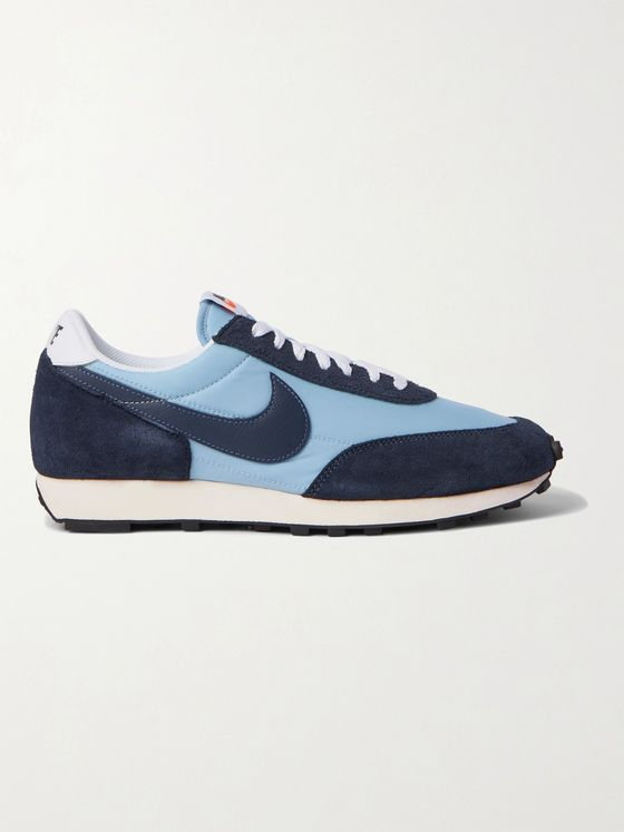 NIKE Daybreak leather, suede and nylon sneakers