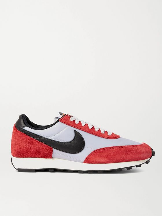 NIKE Daybreak Leather-Trimmed Suede and Mesh Sneakers