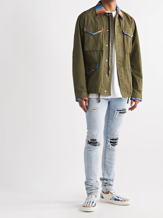AMIRI Distressed Cotton-Canvas Overshirt