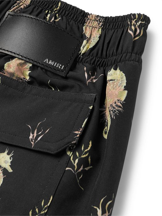 AMIRI Mid-Length Printed Swim Shorts