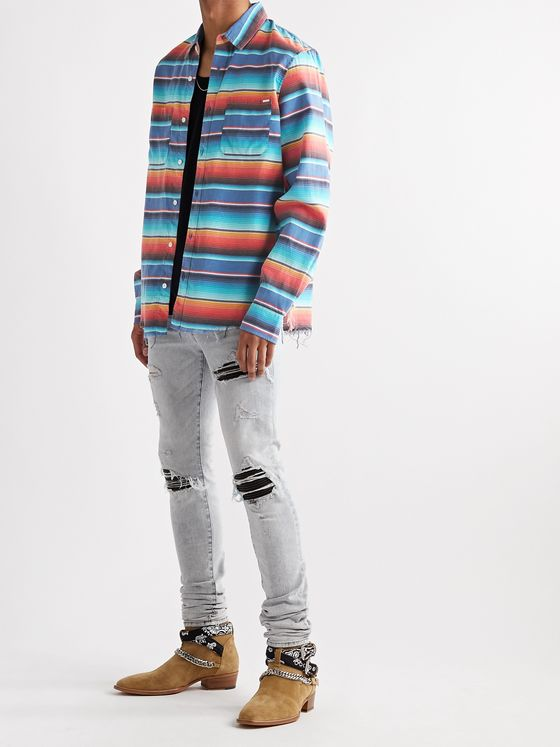 AMIRI Baja Striped Cotton Shirt