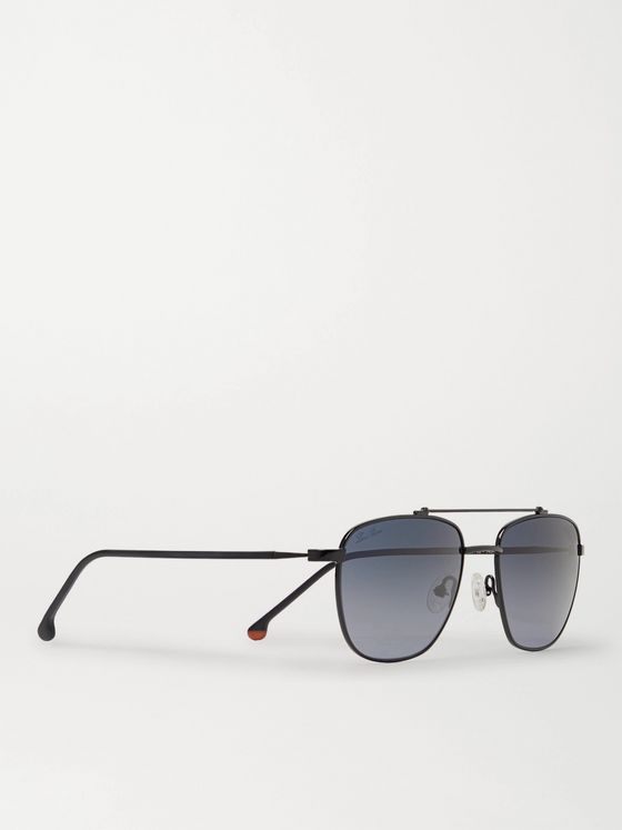Loro Piana Open Aviator-Style Titanium and Acetate Polarised Sunglasses