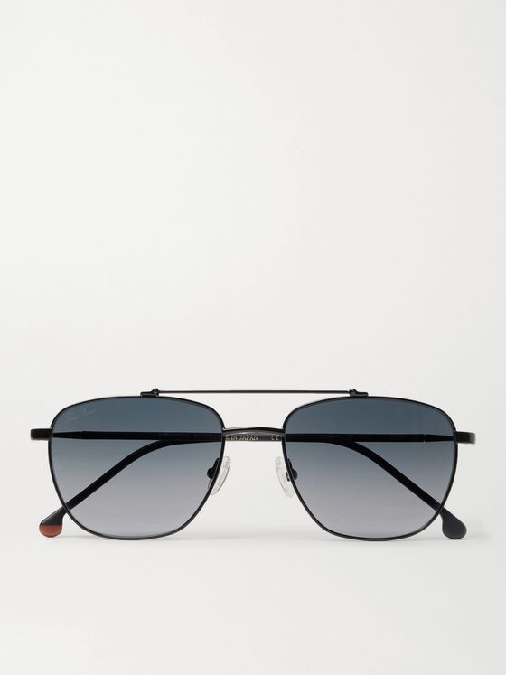 Loro Piana Open 54 Aviator-Style Titanium and Acetate Polarised Sunglasses