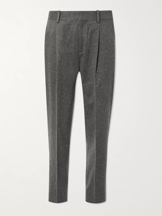 MR P. Tapered Brushed-Cashmere Trousers