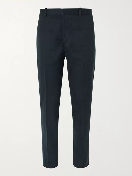 MR P. Tapered Cotton and Cashmere-Blend Twill Trousers