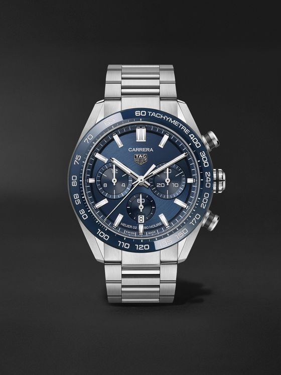 TAG Heuer Carrera Automatic Chronograph 44mm Stainless Steel Watch, Ref. No. CBN2A1A.BA643