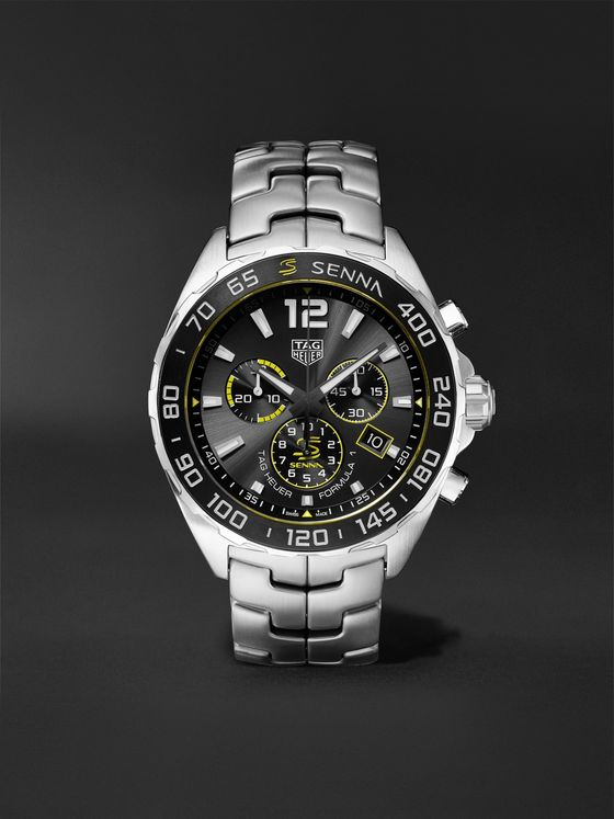 TAG Heuer Formula 1 x Senna Chronograph 43mm Stainless Steel Watch, Ref. No. CAZ101AF.BA0637