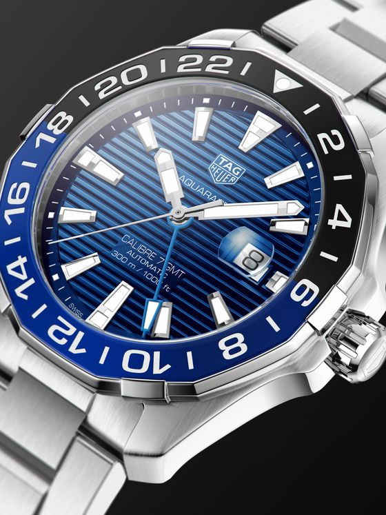 TAG Heuer Aquaracer Automatic GMT 43mm Steel Watch, Ref. No. WAY201T.BA0927
