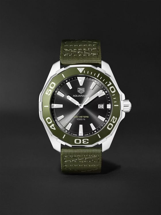 TAG Heuer Aquaracer 43mm Stainless Steel and NATO Webbing Watch, Ref. No. WAY101L.FC8222