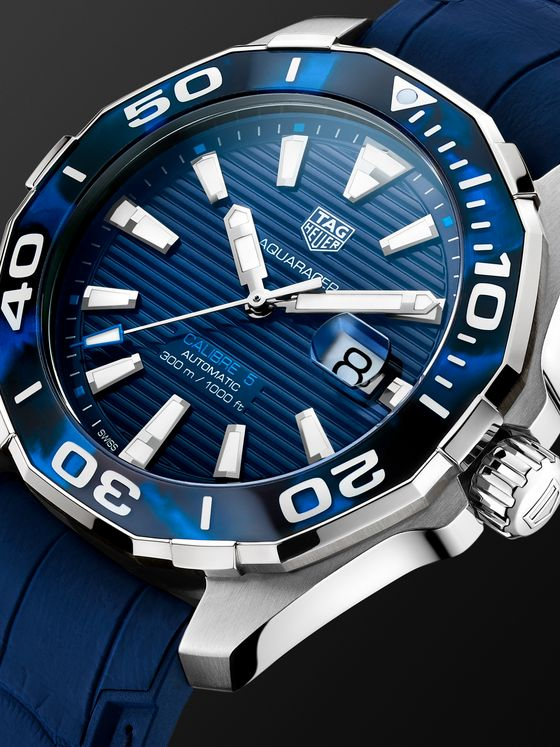 TAG Heuer Aquaracer Automatic 43mm Steel and Rubber Watch, Ref. No. WAY201P.FT6178