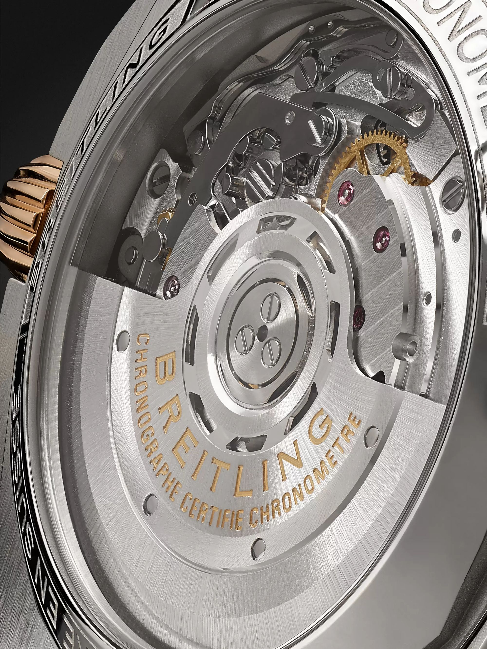 Breitling Chronomat B01 Automatic Chronograph 42mm Stainless Steel and 18-Karat Red Gold Watch, Ref. No. UB0134101C1U1