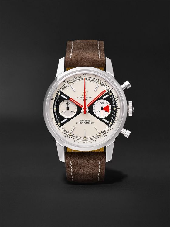 Breitling Top Time Limited Edition Automatic Chronograph 41mm Stainless Steel and Nubuck Watch, Ref. No. A23310121G1X1