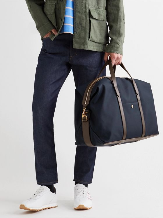Mismo Leather-Trimmed Nylon Holdall