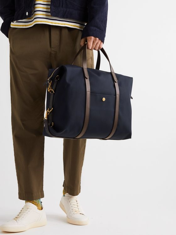 Mismo Leather-Trimmed Canvas Briefcase
