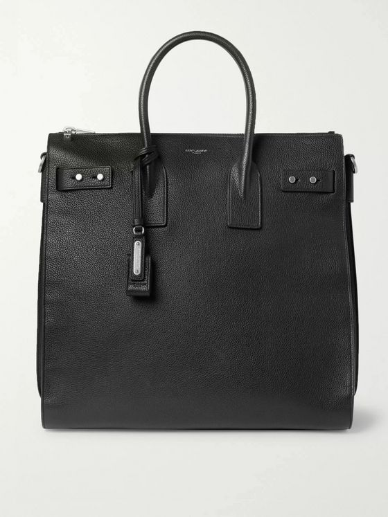 SAINT LAURENT Sac De Jour Large Full-Grain Leather Tote Bag