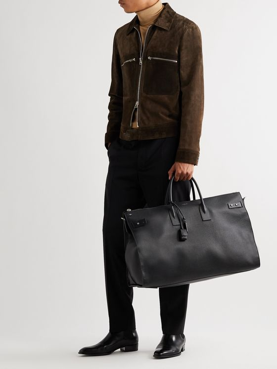 SAINT LAURENT Full-Grain Leather Holdall