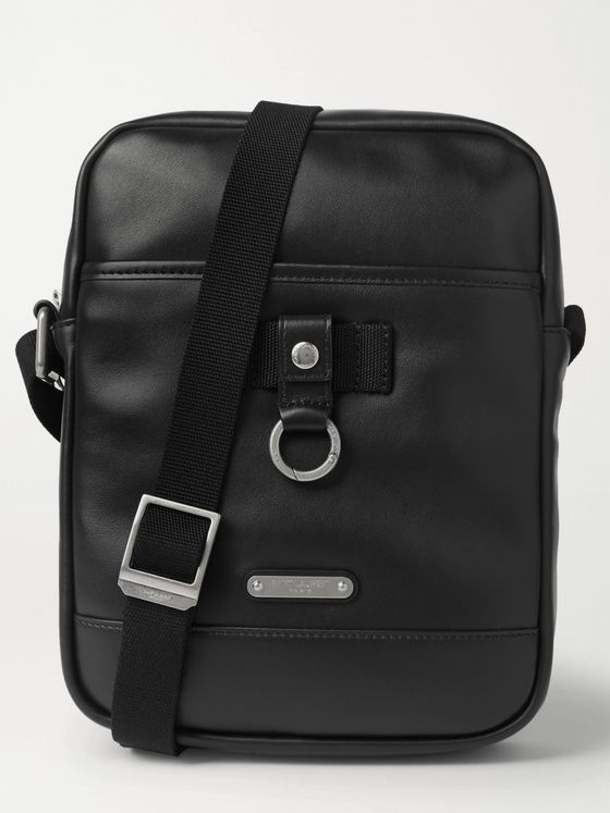 SAINT LAURENT Rivington Leather Messenger Bag