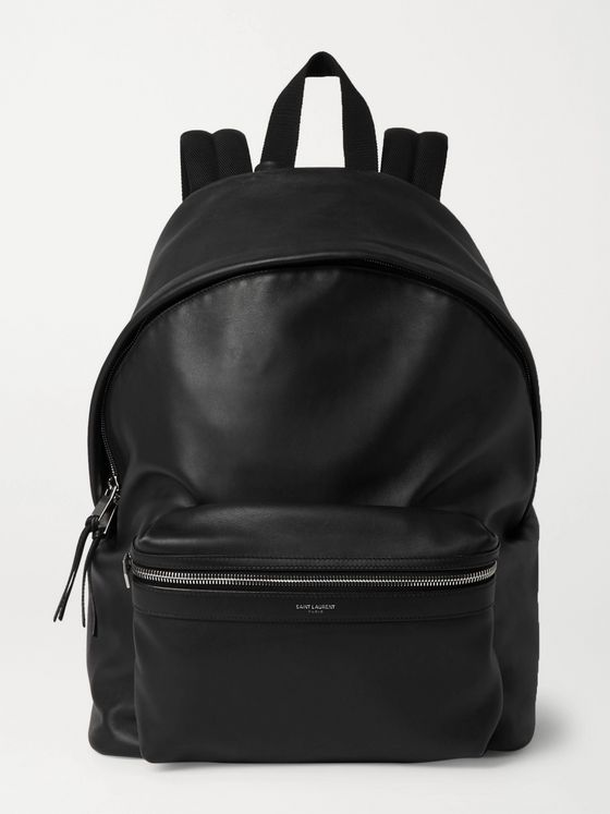 SAINT LAURENT City Leather Backpack